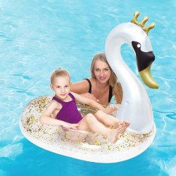 Upplåsbar bassängmadrass Swan Vit