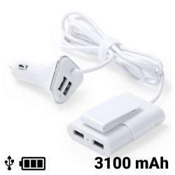 USB-laddare för 4 biluttag 3100 mAh 145209 Vit