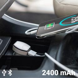 USB-laddare med GPS för bil 2400 mAh 145823 Vit