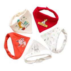 0-6 år Nyfödd baby 5st haklappar Triangle Scarf Cotton Bib