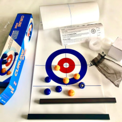 1200*280mm Foldable Table Curling Ball Tabletop Curling Game Deep Blue