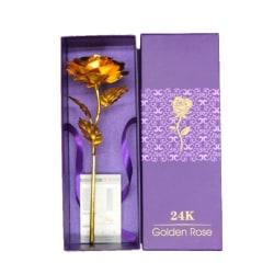 24K Foil Plated Rose Gold Rose Wedding Valentine's Day Gift J1