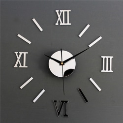 3D Digital Wall Clock Sticker Watch Modern Design Clock Decor S