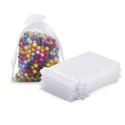 50Pcs Transparent Drawstring Bags Wedding Party Gift bags W