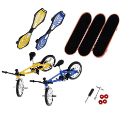 7PCS/Set Novelty bicycle Mini Fingerboard finger skateboard bike A