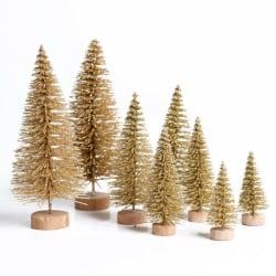 8PCS Mini Christmas Tree Set Simulation Christmas Tree Table C