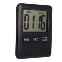 ABS Precise Digital Timer Household Wall Clock Kitchen Timer Black