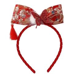 Baby Girls Cartoon Bow Knot Headband Floral Butterfly Tassel