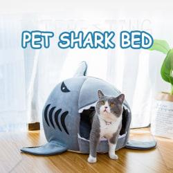 Cat's Nest Shark Style House Cat mat Pet Soft Warm Nest as the picture