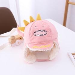 Children Warm Hat Cartoon Dinosaur Thicken Plush Kids Hat Baby P