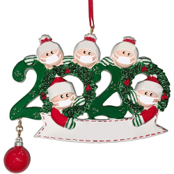 Christmas Tree Family Pendant Pendant DIY Blessing Words Pendant