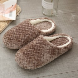 Cotton Slippers Non-slip Slippers Soft Indoor Bedroom Shoes DC XL