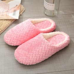 Cotton Slippers Non-slip Slippers Soft Indoor Bedroom Shoes P L