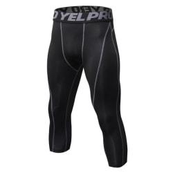 elastiska herrbyxor fitness joggers tights byxor leggings wear