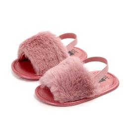 Fashion Faux Fur Baby Shoes Summer Cute boys girls shoes