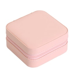 Flannel Square Jewelry Box Makeup Ring necklace Storage Box 3 as shown