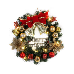 Front Door Ornament Christmas Wreath 10 Head Lamps Parties E-40cm as shown