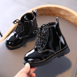 Kids Leather Boots Girl Shoes Spring Autumn PU Leather Boot B 27