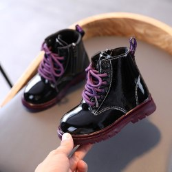 Kids Leather Boots Girl Shoes Spring Autumn PU Leather Boot Z 27