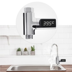 LED Display Home Water Shower Thermometer Flow Water A
