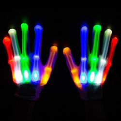 LED Gloves Neon Guantes Glowing Party Light Flashing Gloves A