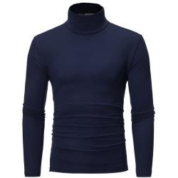 Män höst vinter bottnar tröja hög krage grundläggande tröjor