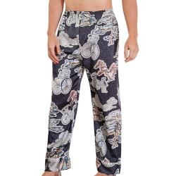 Men Sleep Bottoms Satin Sleepwear Nightgown Pajama Lounge A L