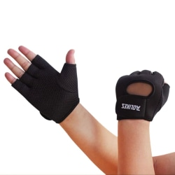 Men Women Half Finger Motorcycle Racing Gloves Cycling Gloves Black M