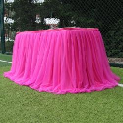 Flerfärgad tabell kjol tutu tyll partydekoration