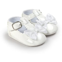 Newborn Anti-slip Crib Shoes Soft Sole Sneakers Prewalker 0-18M White 3