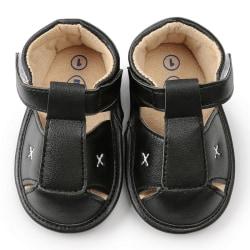 Newborn Baby Boys Sandal Shoes PU Leather kids schoenen Soft B 7-12 Months