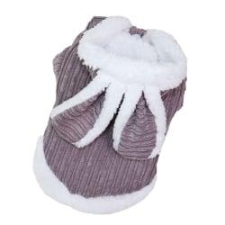 Husdjur Höst och vinter varma kläder söt kostym kanin design