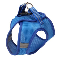 Pet Cat Breathable With Tethered Rope Traction Chest Harness Blue M