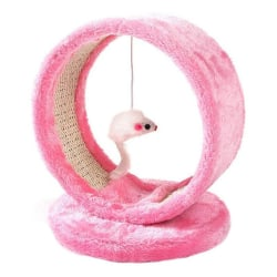 Pet Cat Stand Climbing Frame Interactive Puzzle Cat Toy Pink