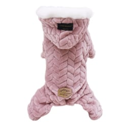 Pet Dog Clothes Jumpsuit Thicken Pet Clothing Costume Pink XL