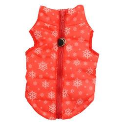 Pet Dog Clothes Vest Winter Warm Harness Puppy Coat Jacket Red M