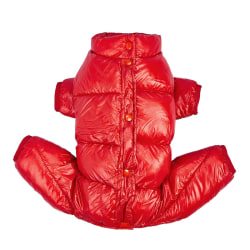 Pet Dog Clothes Warm Jumpsuit Cotton Coat Small Dogs Jacket Red M M