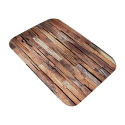 Printed Flannel Rug Soft Water Absorption Mat Kitchen Bathroom