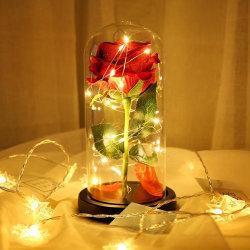 Romantic LED Flower Night Motion Lamp Valentine's Rose Gift as shown