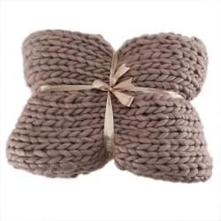 Rough wool manual Weaving blanket Arm knit blanket Wool blanket D 240x230cm