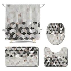 Shower Bathroom Products Shower Curtain Floor Combination Set C