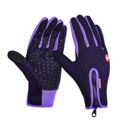 Sport skidåkning pekskärm handske cykling cykel handskar Purple XL