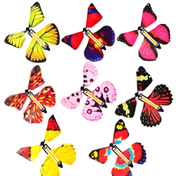 Transformation Fly Butterfly Props Magic Tricks Joke Classic Toy as picture United States