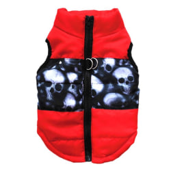 Warm Pet Clothing Winter Bow Knot Pet Clothes Costume Vest Red XS
