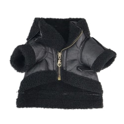 Warm Pet Leather Velvet Outfits Thickened Apparel Coat Jacket B M