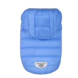 Winter Warm Pet Dog Coat Jacket Clothes Medium Large Dog Clothes Blue M