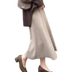 Women Autumn Winter Skirts High Waist Dress Knitted Skirt K One Size