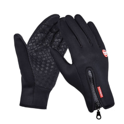 Women Men Ski Gloves Snowboard Gloves Motorcycle Riding Mittens Black M