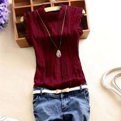 Reffle-skjorta för kvinnor Chiffongblus Office sommarblusskjorta