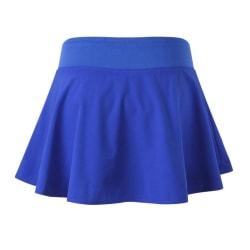 Women's Short Skirt Tennis Quick-Drying Sports Short Skirt Blue L